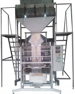 Machine for packaging feed