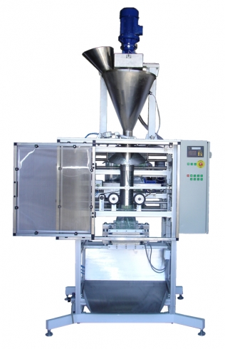 Packaging machine for powdered products to 2l