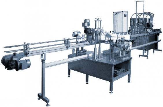 Automatic line for liquids cosmetic products and products