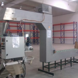 Vertical packaging machine for small assembly parts with Z elevator elevator Noriya