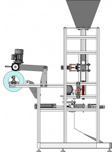 4 side seal packing machine with zipper